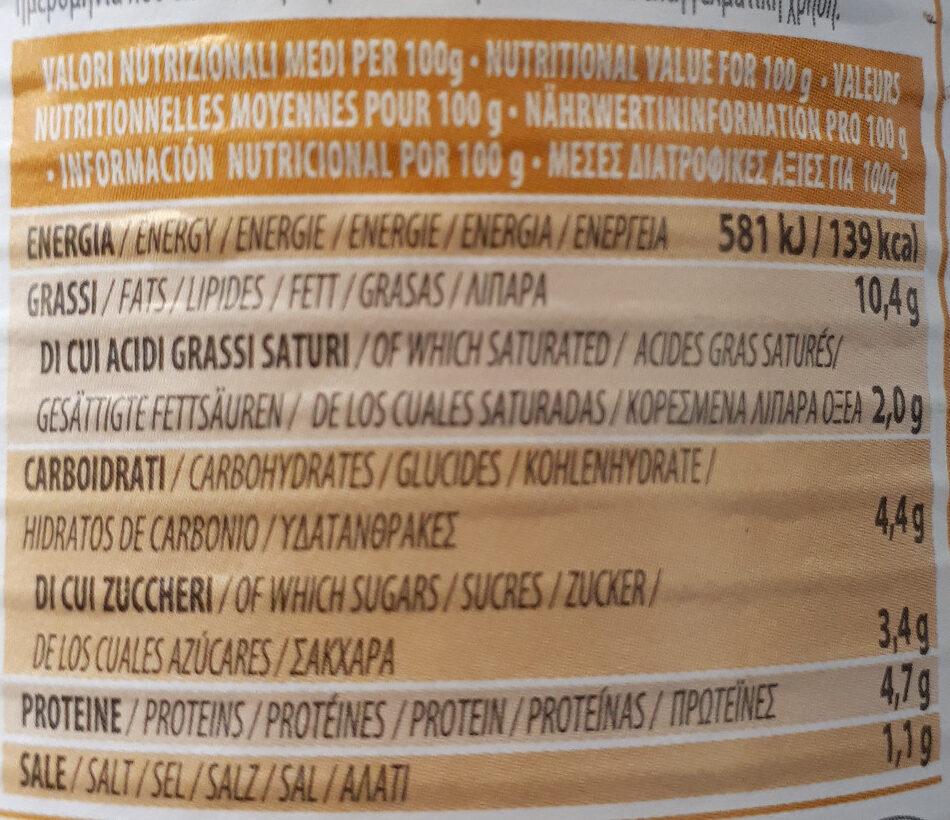 Crème de cèpes arômatisée à la truffe blanche - Voedingswaarden - fr