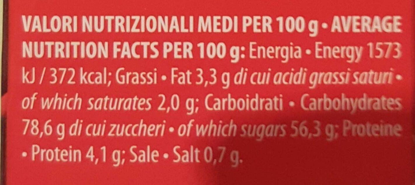preparato per Cioccolata in tazza - Informations nutritionnelles - it