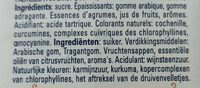 Pastilles Leone - Ingrédients