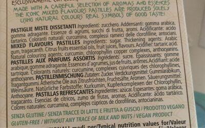 Confetteria Leone - Ingredienti - fr