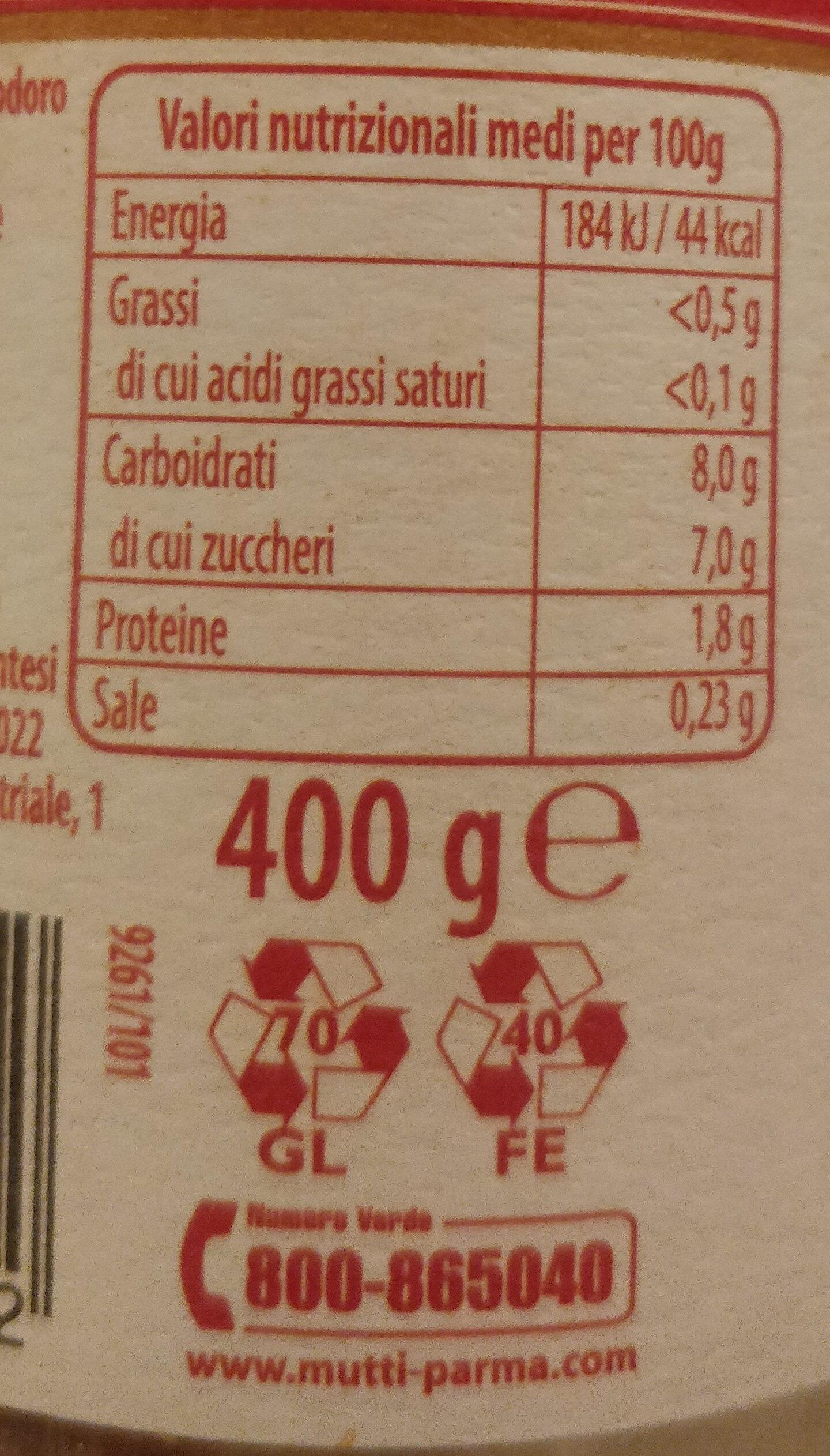 Passata emiliana delle campagne parmensi - l'armoniosa - Nutrition facts - it