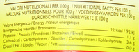 Victor - Nutrition facts - fr