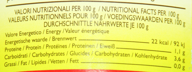 Victor - Informations nutritionnelles - fr