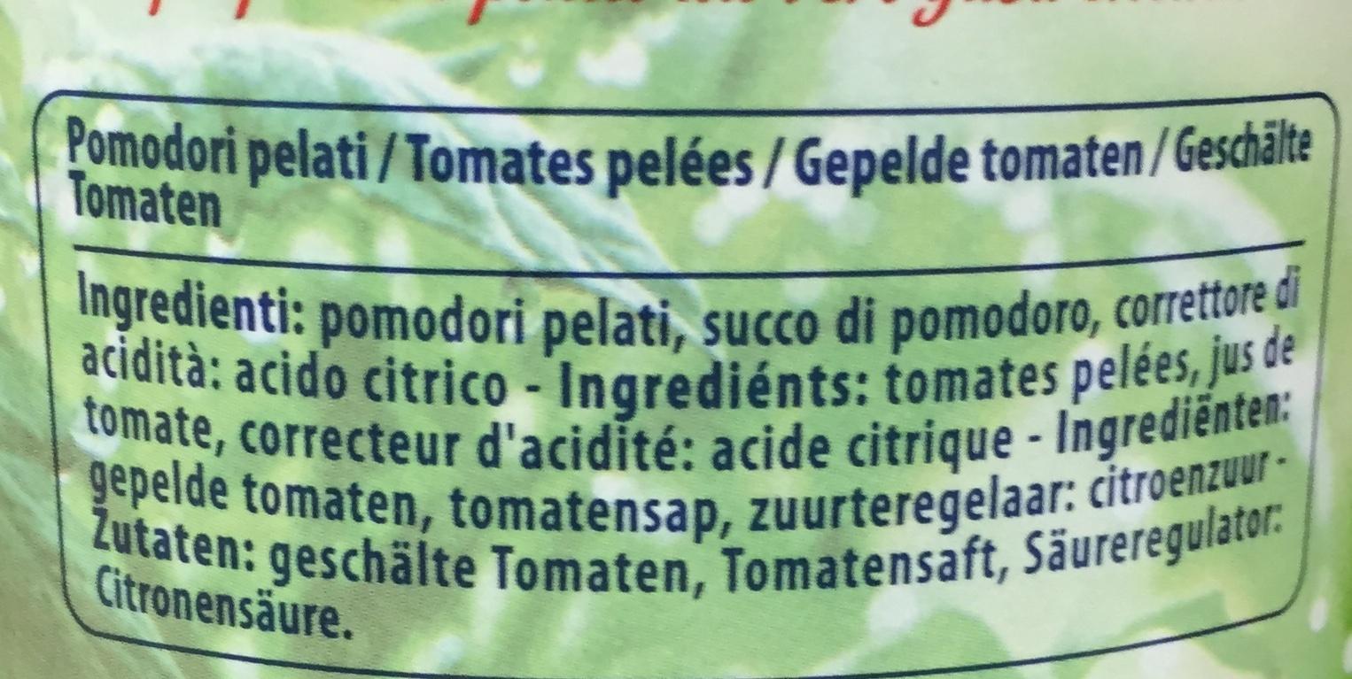 Pomodori Pelati - Ingrédients - fr
