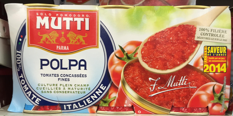 Polpa Tomates concassées fines - Produit