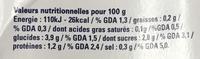 Polpa Tomates concassées fines - Informations nutritionnelles