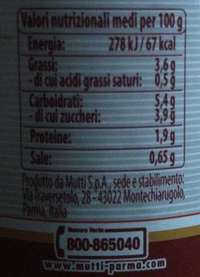Salsa pronta classica - Informazioni nutrizionali