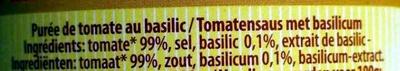 Passata di Pomodoro al basilico - Ingredients