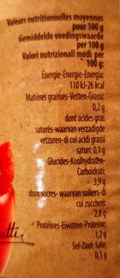 Pulpe de tomates en morceaux - Nutrition facts - fr