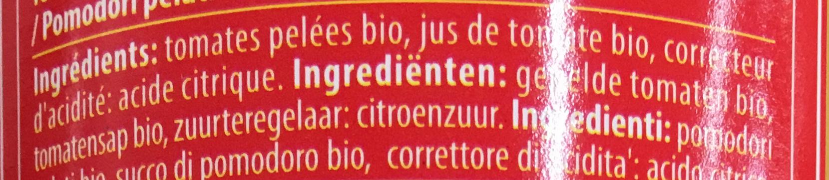 Tomates pelées bio - Zutaten - fr