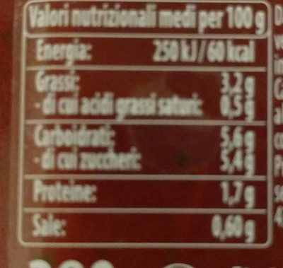 Sugo semplice con basilico - Informations nutritionnelles - fr