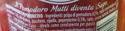 Mutti sugo semplice con peperoncino 280g - Ingrediënten - it