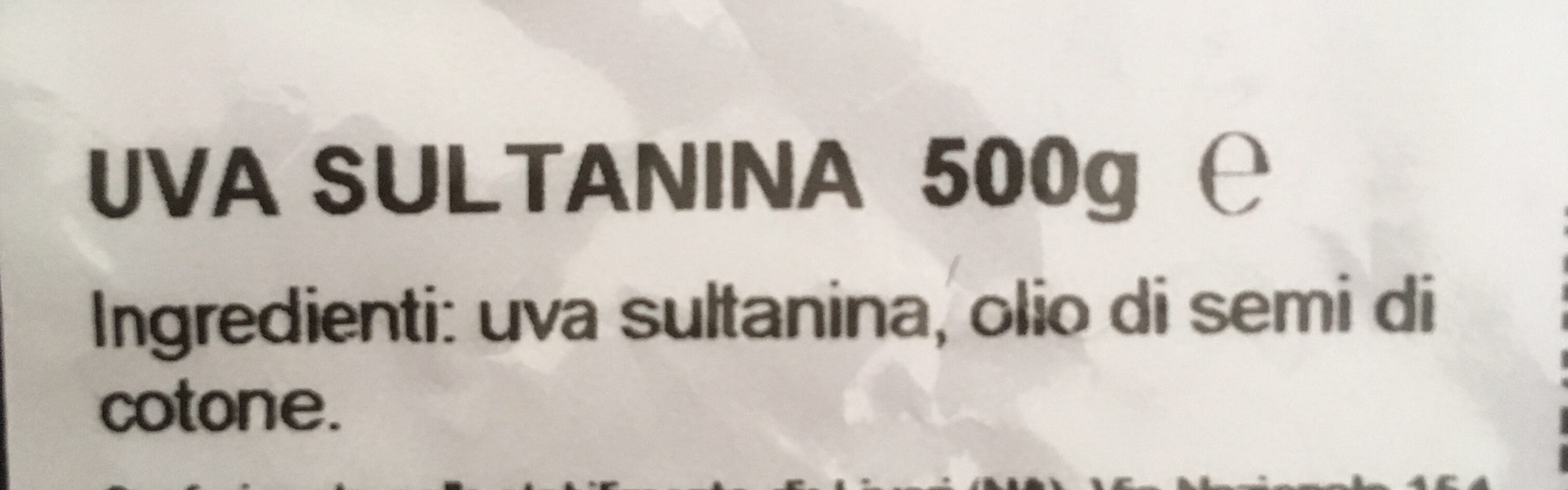 Uva sultanina - Ingredients - it