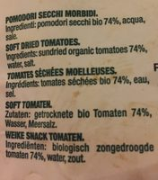 Tomate Seco Blando Bio Bolsa - Ingrédients - fr