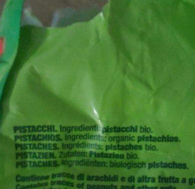 Pistaches Tostados without salt Bio - Ingrédients