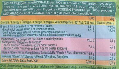 Farina di Cocco - Informations nutritionnelles - it