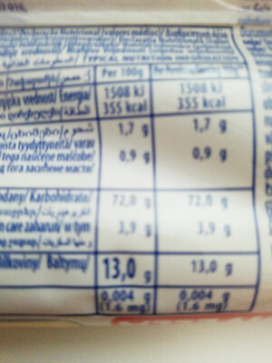 vermicelli 7 - Nutrition facts