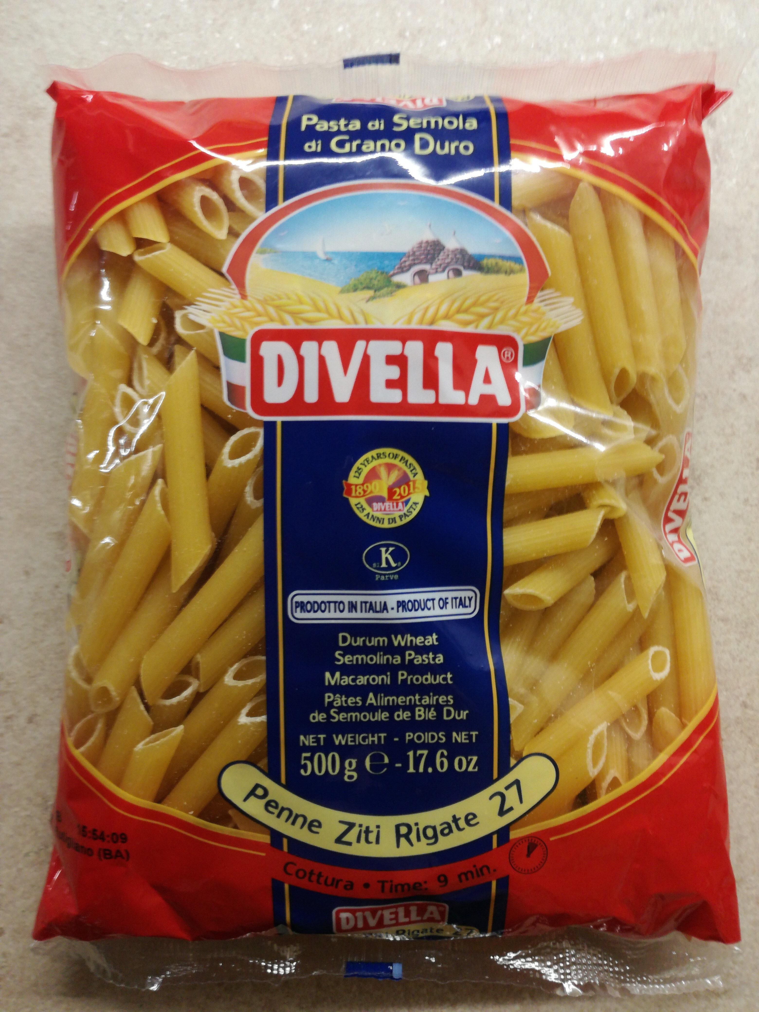 Divella Penne Ziti Rigate 27 500 GRS - Produit