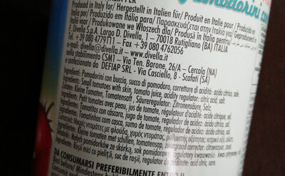pomodorini con buccia - Ingredients - it