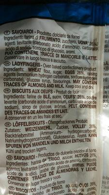 Savoiardi Ladyfingers - Ingredients - fr