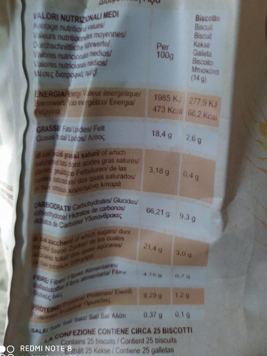 Ottimini - Nutrition facts - it