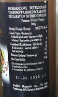 Crème balsamique de modene - Voedingswaarden - fr