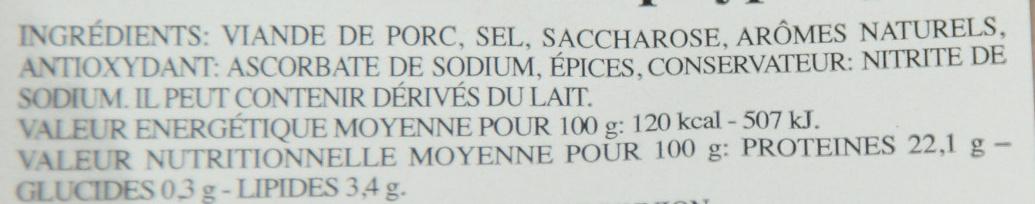 Jambon rôti aux herbes (cuit au four) - Ingrédients - fr