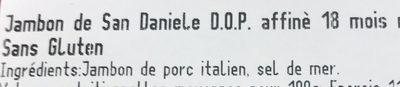 Prosciutti di san daniele - Ingrédients - fr