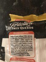 Tortellini con tres quesos - Ingredients