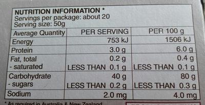 riso superfino Carnaroli - Nutrition facts