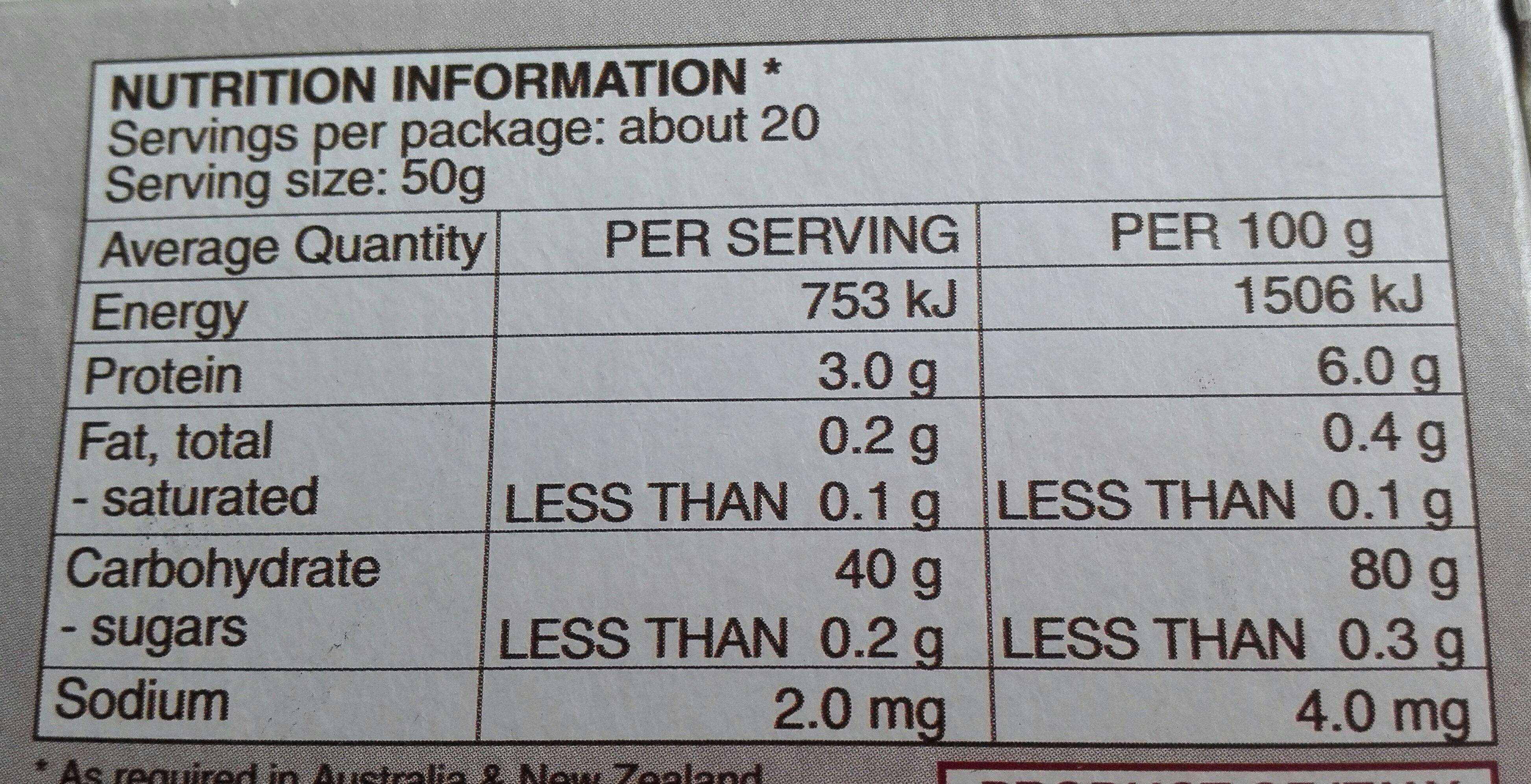riso superfino Carnaroli - Nutrition facts - it