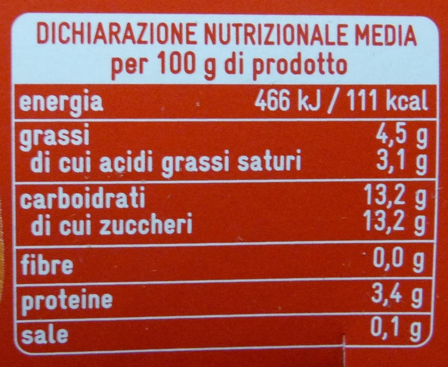 Yogurt e Agrumi di Sicilia - Informazioni nutrizionali - it