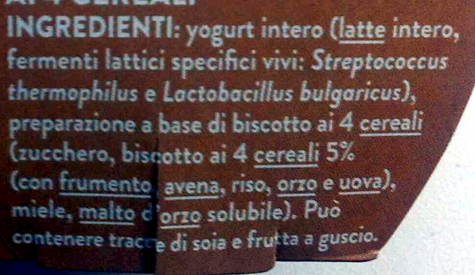 Biscotto ai 4 cereali - Ingredients