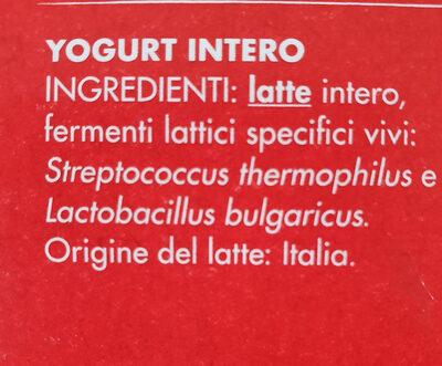 Yomo Yogurt intero Bianco Naturale - Ingredients