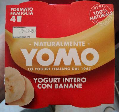 yogurt intero con banane - Produit - it