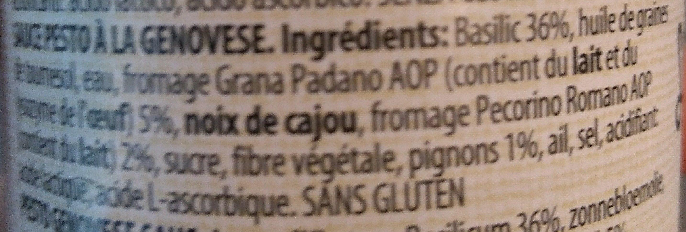Green Pesto - Ingrédients