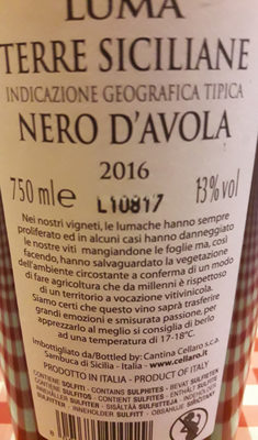 Luma Nero D'avola Sicilia - Product