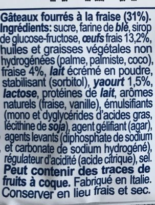 Buondolce Erdbeer 10 x 25 gr - Ingrediënten