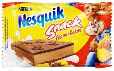 Nesquik snack cacao bizcocho relleno de crema de leche al cacao - Product - en