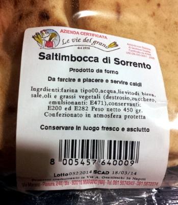 saltimbocca di Sorrento - Product