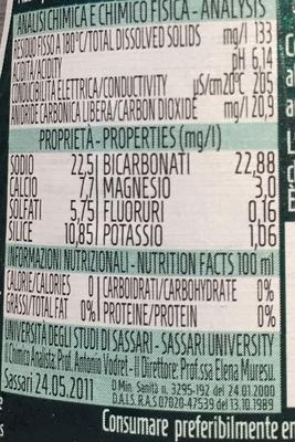 Acqua - Voedingswaarden - fr