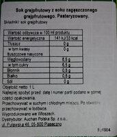 Sok grejpfrutowy - Wartości odżywcze