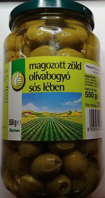 Zielone oliwki bez pestek w zalewie. - Produkt