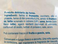 Frollini con riso e latte - Ingrédients - fr