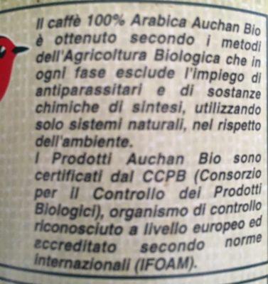 Caffè 100% arabica - Ingredients - fr