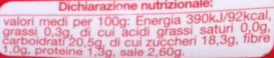 ketchup classico - Valori nutrizionali - it