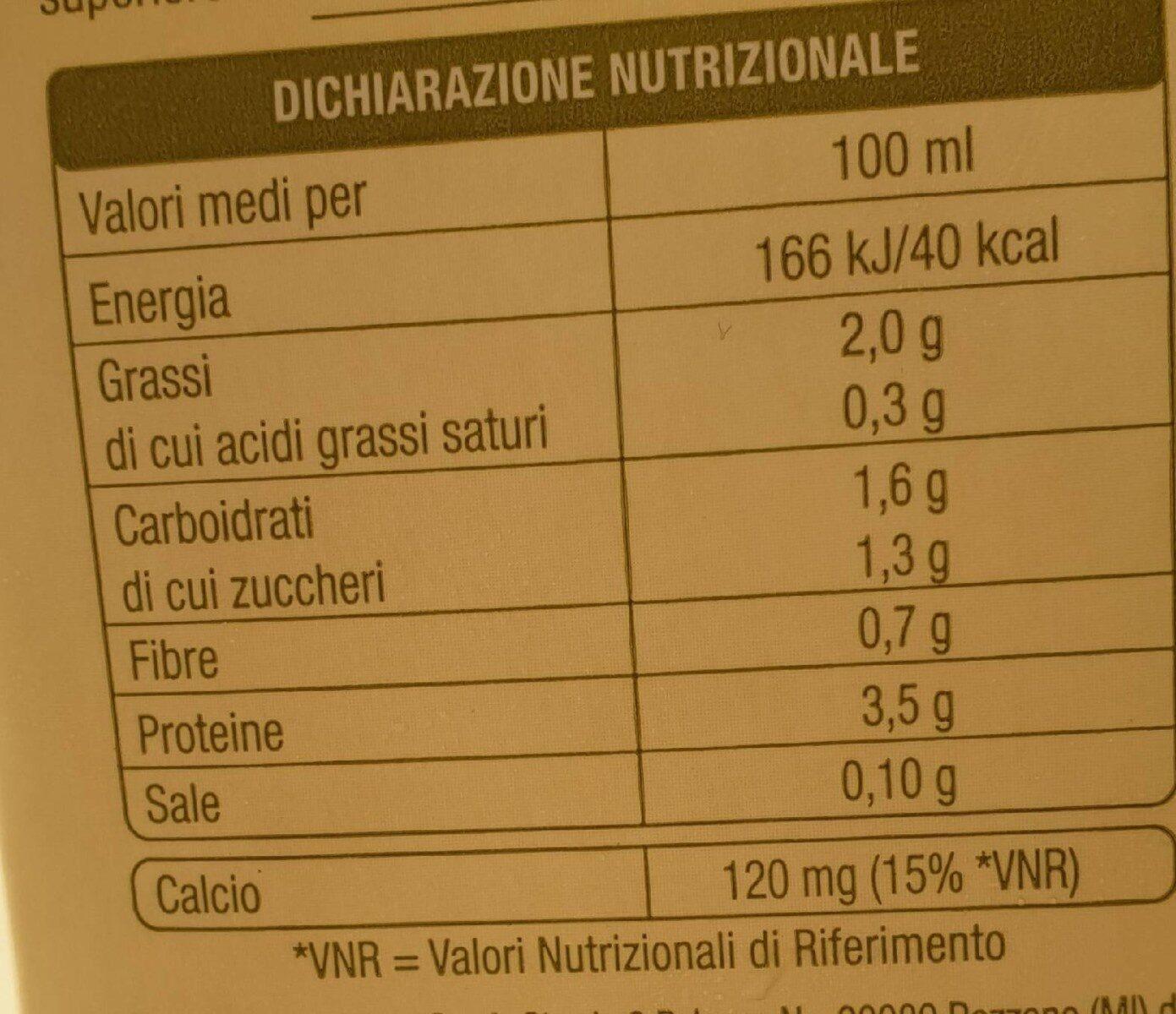 Bevanda di soia - Valori nutrizionali - it
