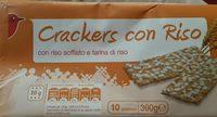 Crackers con riso - Produit - fr