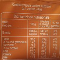 Crackers con riso - Informations nutritionnelles - fr