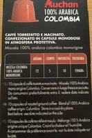Capsule Café Colombia 100% arabica - Ingredienti - fr